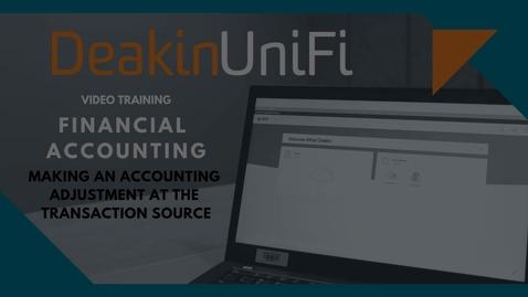Thumbnail for entry Make an accounting adjustment