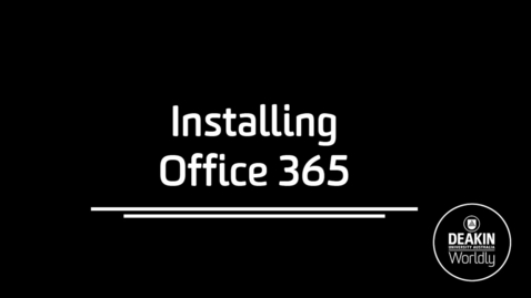 Thumbnail for entry Installing Office365
