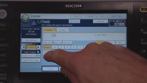 Thumbnail for entry Scanning to email or USB using a Ricoh printer