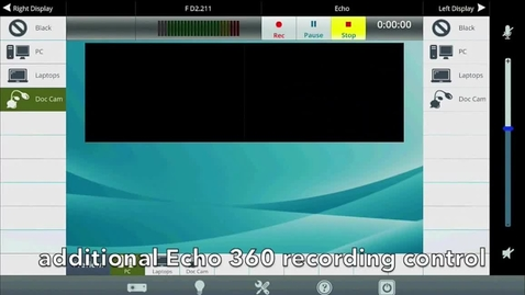 Thumbnail for entry Teaching Spaces - Get Started with Echo 360 Recording