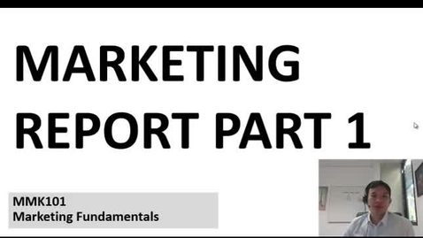 Marketing Report Part 1 Video Guide