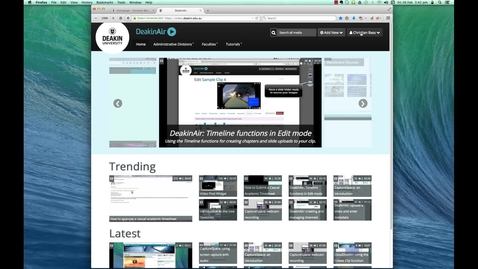 Thumbnail for entry DeakinAir: using an embed code to add a clip to a unit site