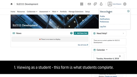 Thumbnail for entry Student Extension – Demo