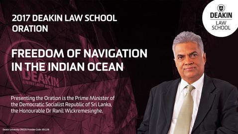 Thumbnail for entry 2017 Deakin Law School Oration