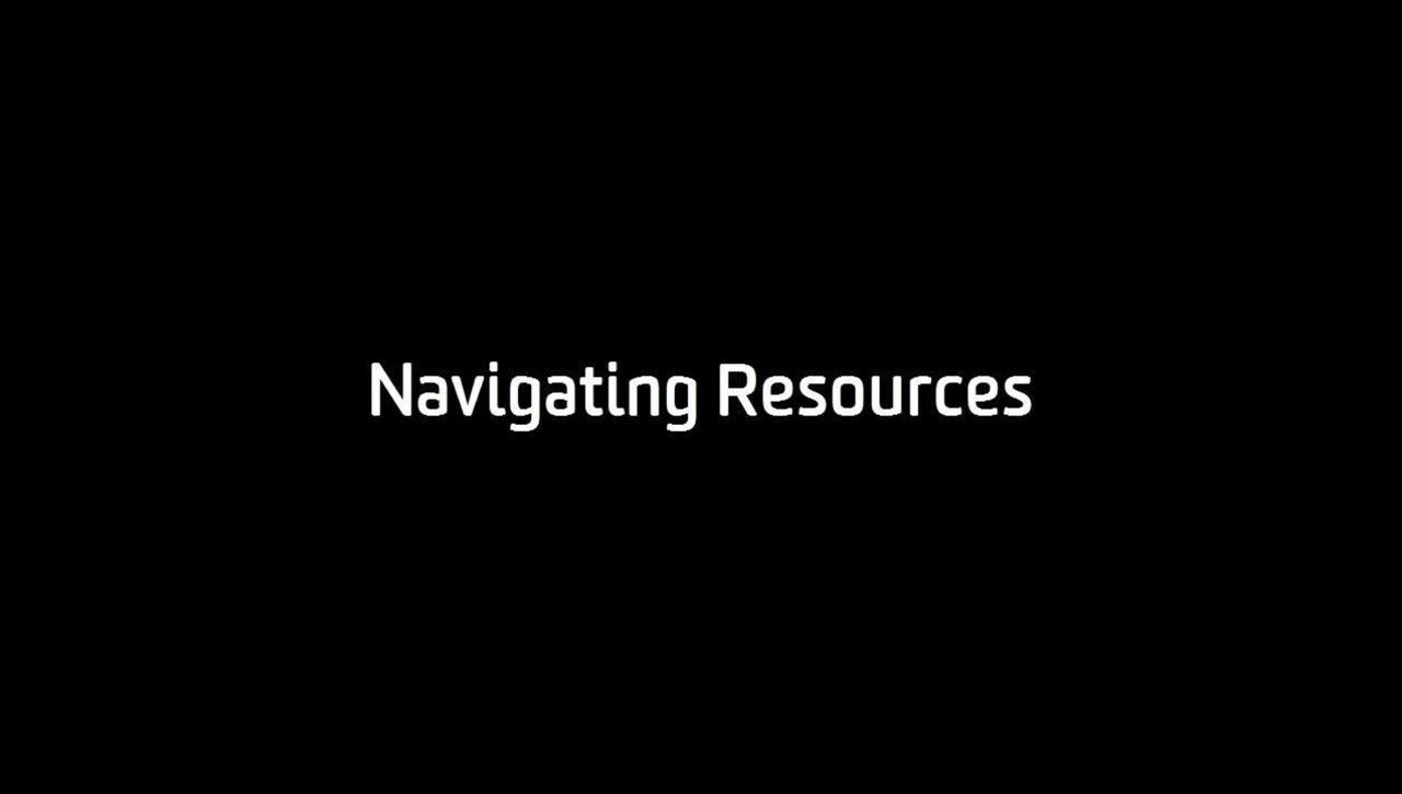 Navigating Resources (Student)