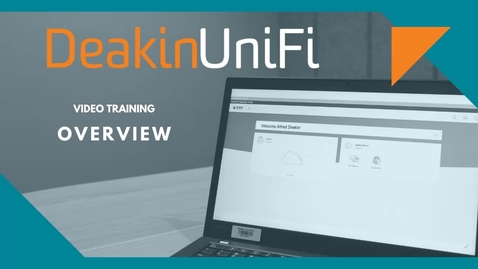 Thumbnail for entry DeakinUniFi Overview