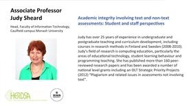 Thumbnail for entry HERDSA - Speaker 2 AsPr Judy Sheard