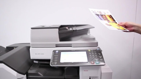 Thumbnail for entry How to copy a document using a Ricoh printer