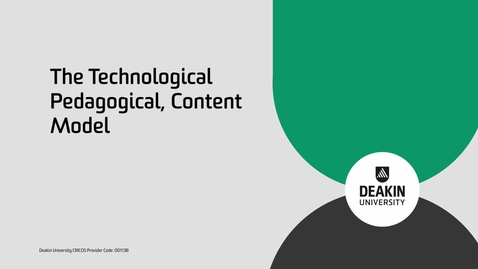 Thumbnail for entry EEE740 Tri 2: Technology, Pedagogy and Content Knowledge Model (TPaCK)