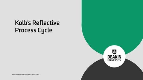 Thumbnail for entry EEE740 Tri 2: Kolb's Reflective Process Cycle