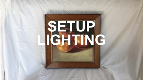 Thumbnail for entry 1.4 - SETUP - Lighting
