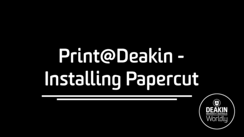 Thumbnail for entry Print at Deakin Windows