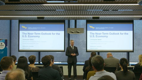 Thumbnail for entry Dr Chris Waller: The Near-Term Outlook for the U.S. Economy