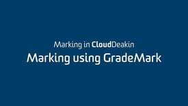 Thumbnail for entry 4 - Marking using GradeMark