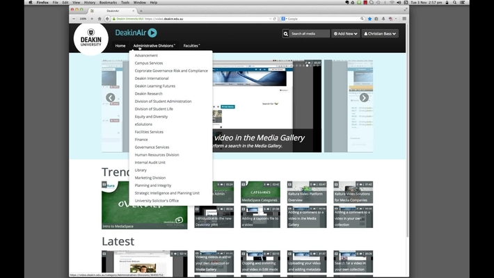 DeakinAir: a quick look over the homepage of DeakinAir