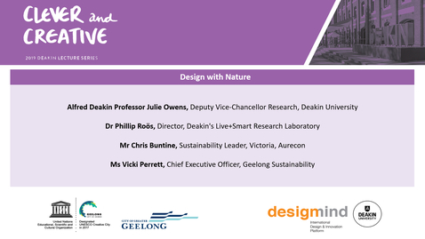 Thumbnail for entry 2019 Clever and Creative Lecture Series - Design with Nature