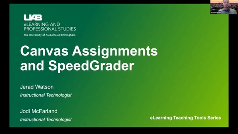 Thumbnail for entry Canvas Assignments and Speedgrader