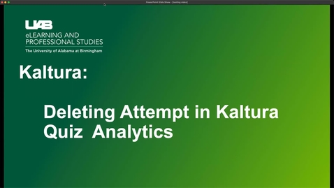 Thumbnail for entry Deleting attempts in Kaltura Quiz Analytics