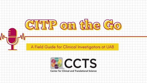 Thumbnail for entry CITP on the Go: Role and Responsibilities of a Principle Investigator