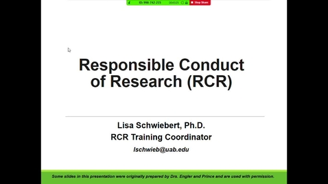Thumbnail for entry Responsible Conduct of Research/Ethics of Genetic Studies