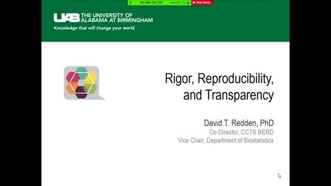 Thumbnail for entry Rigor, Reproducibility & Transparency