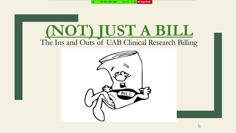 Thumbnail for entry UAB Clinical Research Billing: The Ins & Outs