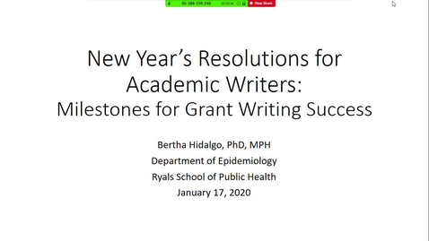 Thumbnail for entry Milestones for Grant Writing Success