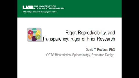 Thumbnail for entry Rigor of Prior Research