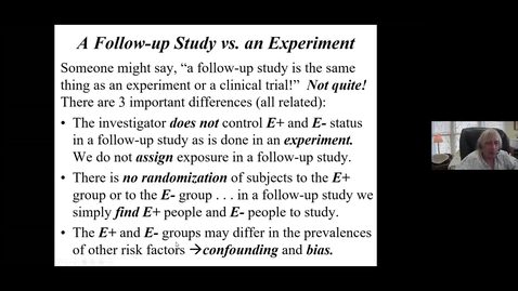 Thumbnail for entry Epidemiologic Study Designs