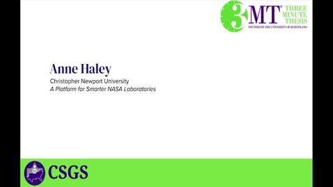 Thumbnail for entry Anne Haley 3MT Presentation