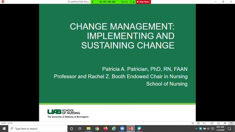Thumbnail for entry Change Management: Implementing & Sustaining Change