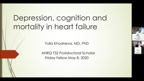 Thumbnail for entry Depression, Cognition & Mortality in Heart Failure