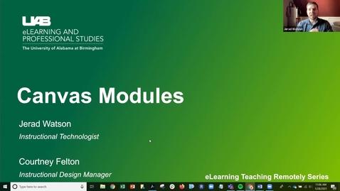 Thumbnail for entry Canvas Modules Webinar