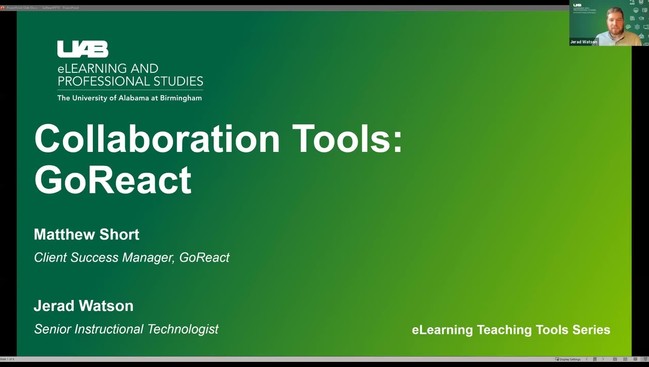 Collaboration Tools: GoReact Group Video