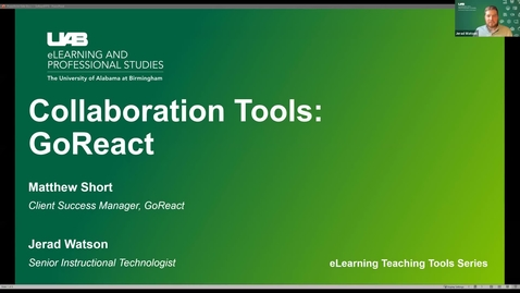 Thumbnail for entry Collaboration Tools: GoReact Group Video