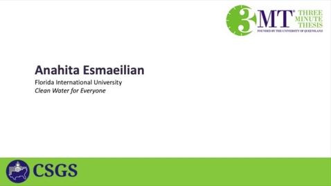 Thumbnail for entry Anahita Esmaeilian-FIU-Heat4-Clean Water for Everyone