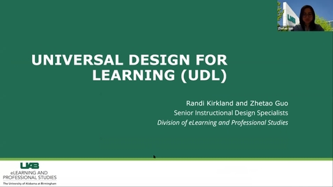 Thumbnail for entry Accessibility & UDL: Universal Design for Learning