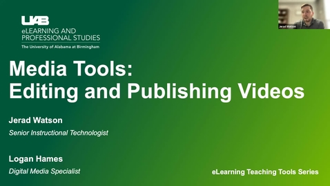 Thumbnail for entry Media Tools: Editing and Publishing Videos