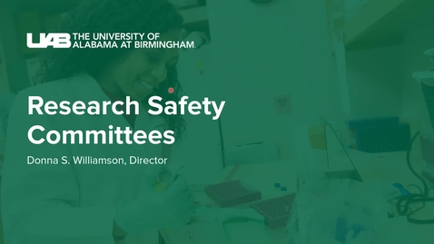 Thumbnail for entry Institutional Biosafety Committee- Donna Williamson