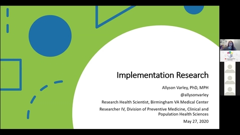 Thumbnail for entry Implementation Science & AI/Machine Learning