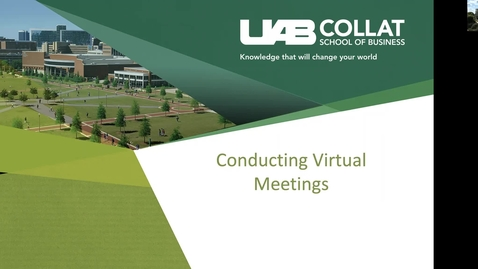 Thumbnail for entry Conducting Virtual Meetings