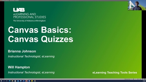 Thumbnail for entry Canvas Basics: Classic Quizzes