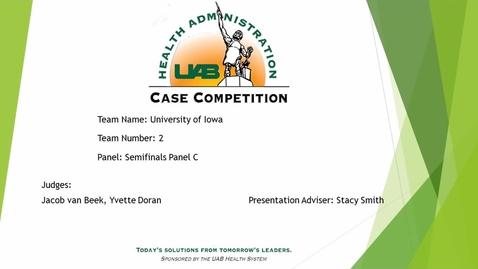 Thumbnail for entry Semi-Final - University of Iowa - 2021