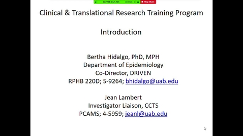 Thumbnail for entry Overview: Clinical & Translational Research Training Program (CTSTP)