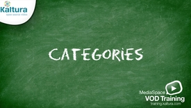 Thumbnail for entry MediaSpace Categories