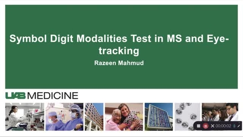 Thumbnail for entry Symbol Digit Modalities Test in MS and Eye-tracking