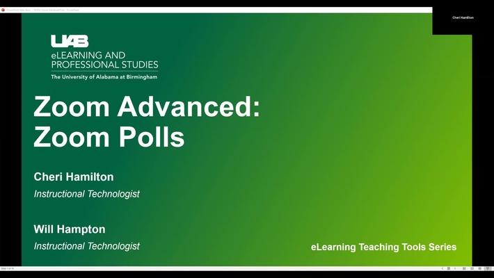 Zoom Advanced: Polls