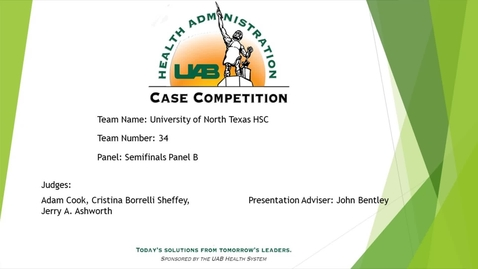 Thumbnail for entry Semi-Final - University of North Texas HSC - 2021