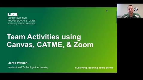 Thumbnail for entry Team Activities Webinar
