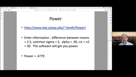 Thumbnail for entry Intro to Statistical Power